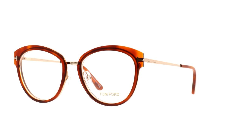 トムフォード FT5508-056-52 [丸メガネ/茶色]  1