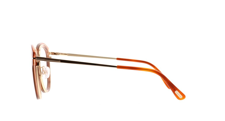 トムフォード FT5508-056-52 [丸メガネ/茶色]  2