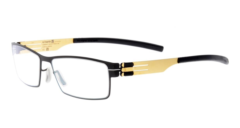 アイシーベルリン peter c. (flex)-black-matt gold [メタル/スクエア]  1