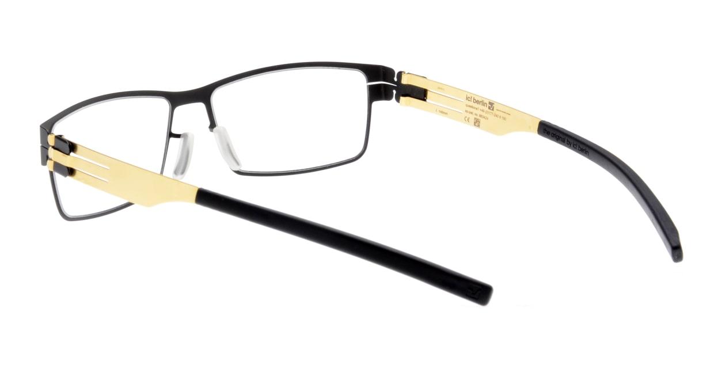 アイシーベルリン peter c. (flex)-black-matt gold [メタル/スクエア]  3