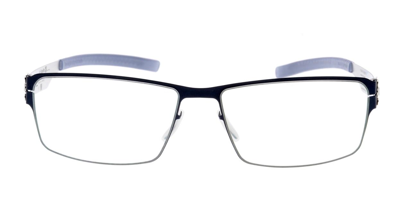 アイシーベルリン Jurgen H.-Marine Blue-Pearl-Grey [メタル/スクエア/青]