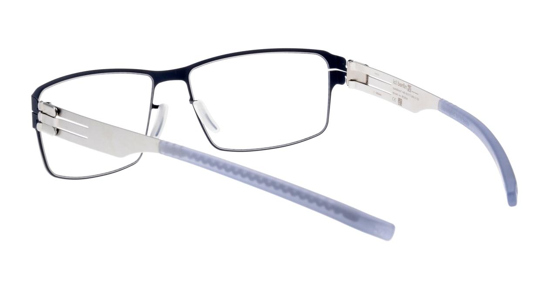 アイシーベルリン Jurgen H.-Marine Blue-Pearl-Grey [メタル/スクエア/青]  3