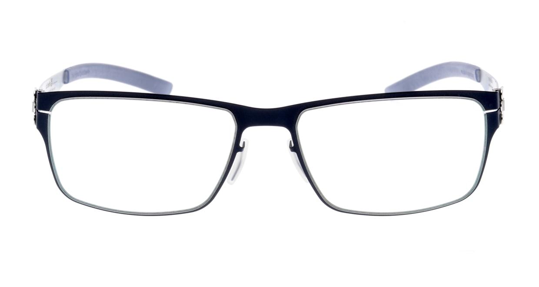 アイシーベルリン Paul R.-Marine Blue-Pearl-Grey [メタル/スクエア/青]