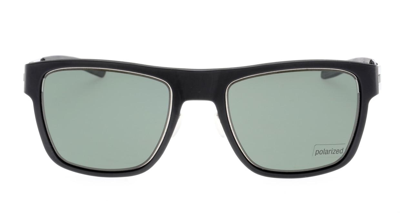 アイシーベルリン Kingpin-Chrome-Black-Green Polarized [ウェリントン]