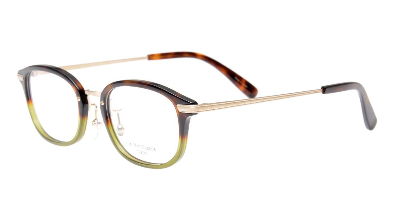 Oh My Glasses TOKYO Albert omg-071-58-15 [鯖江産/ウェリントン/緑]  1