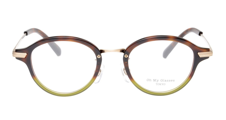 Oh My Glasses TOKYO Mickey omg-073-58-15 [鯖江産/丸メガネ/緑]
