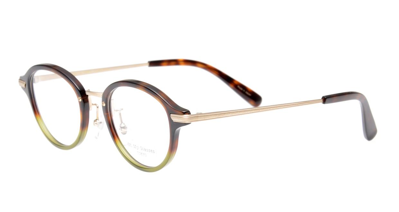 Oh My Glasses TOKYO Mickey omg-073-58-15 [鯖江産/丸メガネ/緑]  1