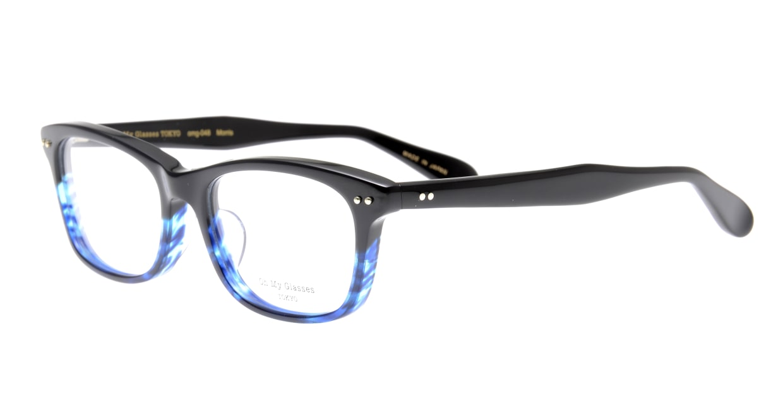 Oh My Glasses TOKYO Morris omg-048-6-53 [黒縁/鯖江産/ウェリントン]  1