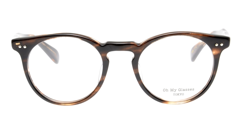 Oh My Glasses TOKYO Richard omg-049-4-48 [鯖江産/ウェリントン/茶色]