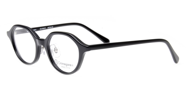 オニメガネ OG7818-C1 [黒縁/日本製/丸メガネ]  1