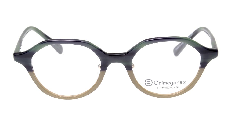 オニメガネ OG7818L-C5 [鯖江産/丸メガネ/緑]