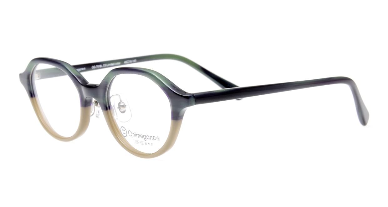 オニメガネ OG7818L-C5 [鯖江産/丸メガネ/緑]  1
