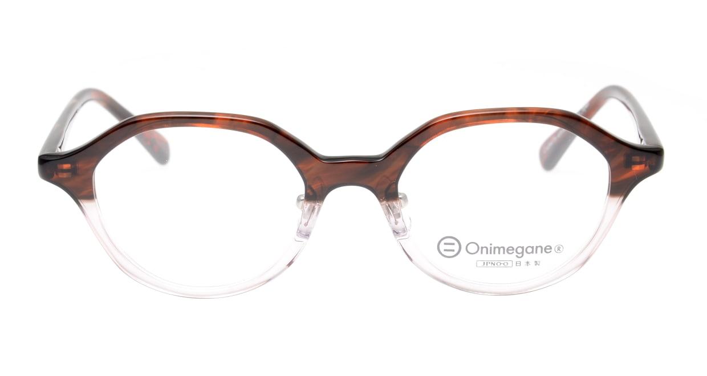 オニメガネ OG7818L-C7-46 [鯖江産/丸メガネ/茶色]