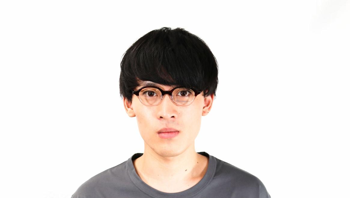 オニメガネ OG7818L-C7-46 [鯖江産/丸メガネ/茶色]  4