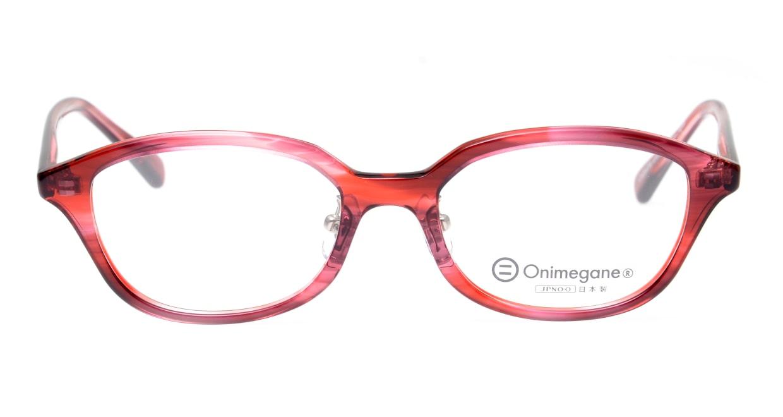 オニメガネ OG7820L-C3 [鯖江産/ウェリントン/赤]
