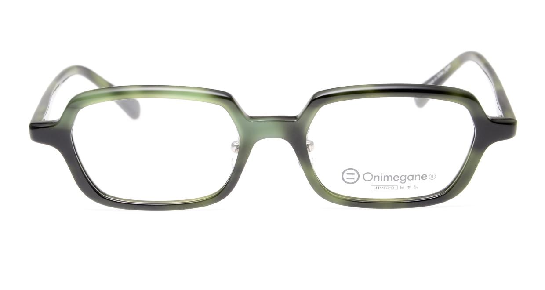 オニメガネ OG7822L-C4 [鯖江産/ウェリントン/緑]  3
