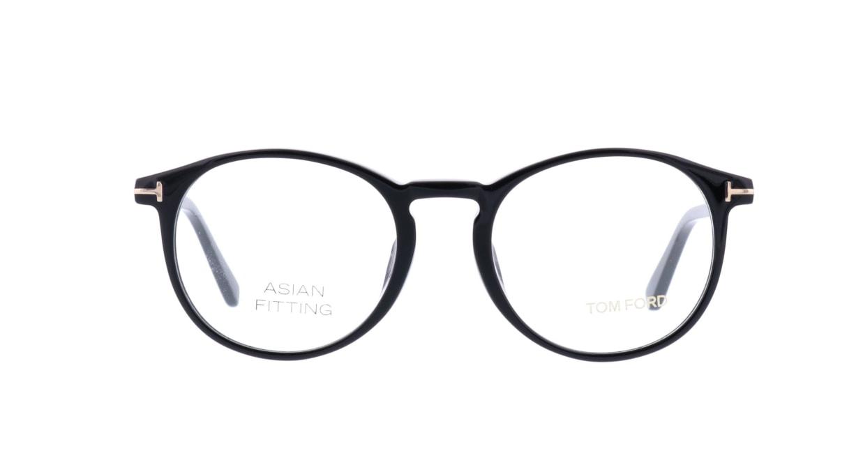 トムフォード FT5294F-001-52 ASIAN FITTING [黒縁/丸メガネ]