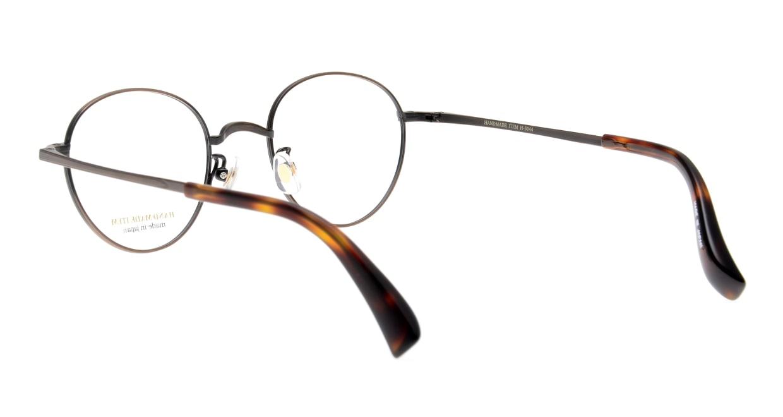 ハンドメイドアイテム H-3044-6-47 [メタル/鯖江産/丸メガネ/茶色]  3
