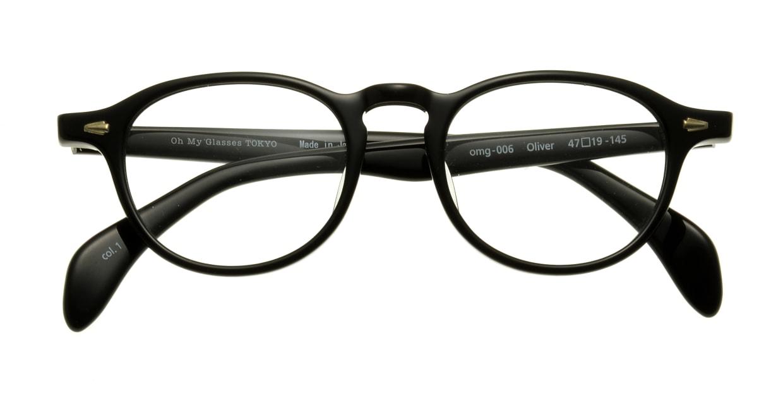 Oh My Glasses TOKYO Oliver omg-006-1-47 +1.5 [黒縁/ウェリントン]