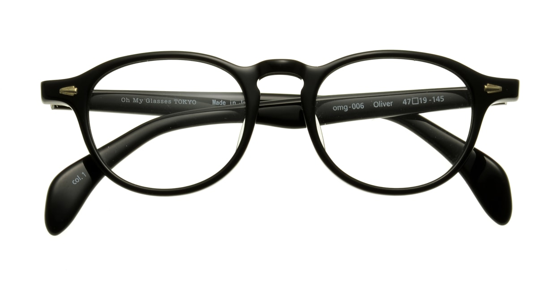 Oh My Glasses TOKYO Oliver omg-006-1-47 +2.0 [黒縁/ウェリントン]