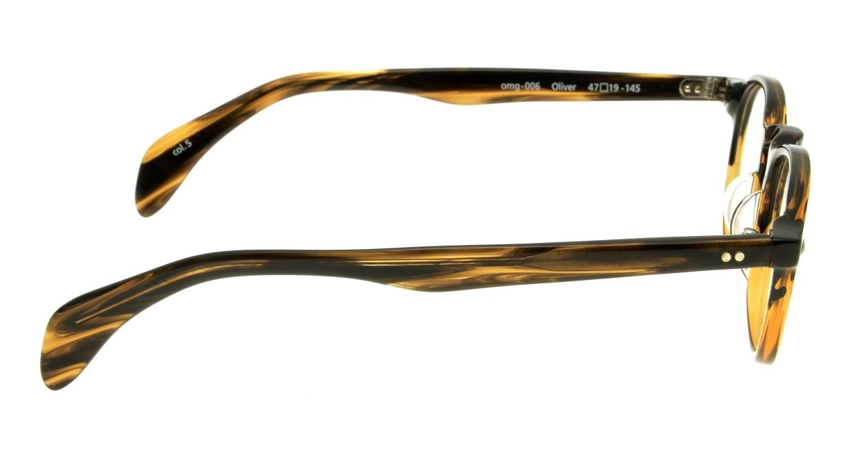 Oh My Glasses TOKYO Oliver omg-006-5-47 +1.5 [黒縁/ウェリントン]  2