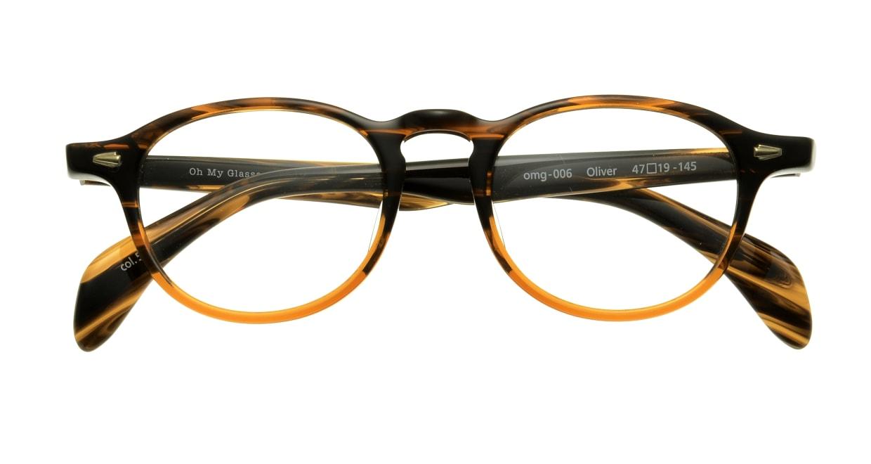 Oh My Glasses TOKYO Oliver omg-006-5-47 +1.5 [黒縁/ウェリントン]