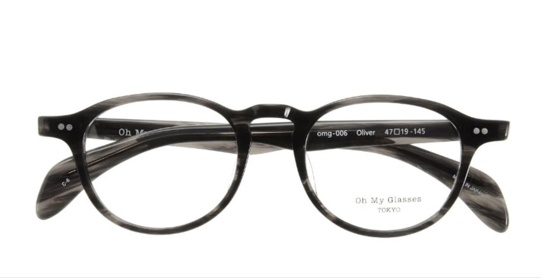Oh My Glasses TOKYO Oliver omg-006-6-47 +1.5 [黒縁/ウェリントン]