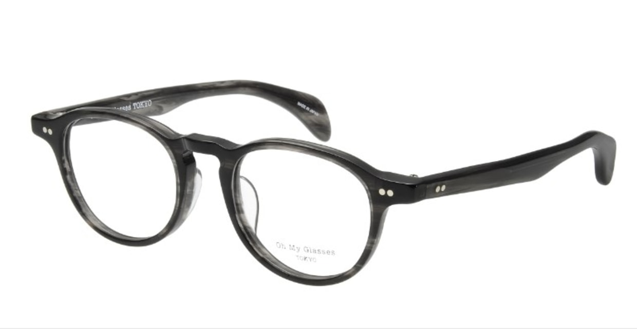 Oh My Glasses TOKYO Oliver omg-006-6-47 +2.0 [黒縁/丸メガネ]  1