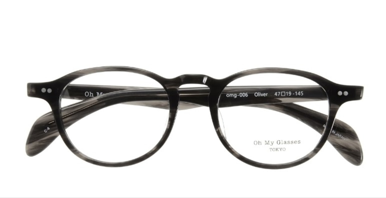 Oh My Glasses TOKYO Oliver omg-006-6-47 +2.0 [黒縁/丸メガネ]