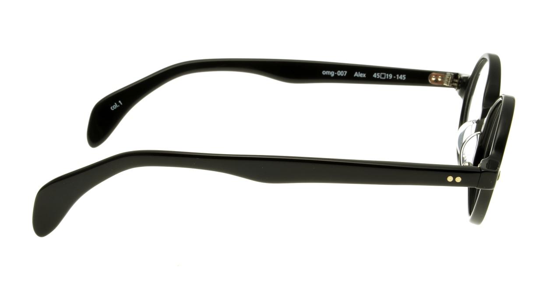 Oh My Glasses TOKYO Alex omg-007-1-45 +1.5 [黒縁/ウェリントン]  2