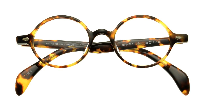 Oh My Glasses TOKYO Alex omg-007-4-45 +2.0 [丸メガネ/べっ甲柄]