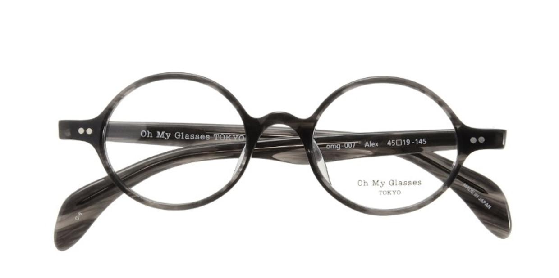 Oh My Glasses TOKYO Alex omg-007-6-45 +2.0 [黒縁/ウェリントン]
