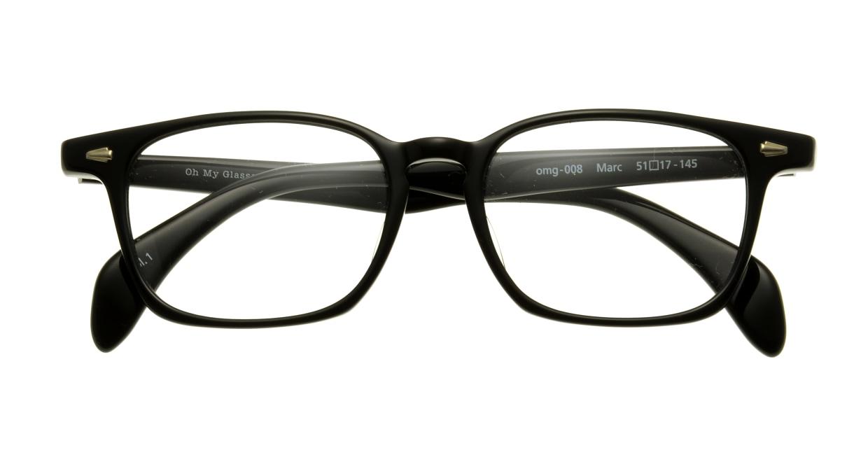 Oh My Glasses TOKYO Marc omg-008-1-51 +1.0 [黒縁/ウェリントン]
