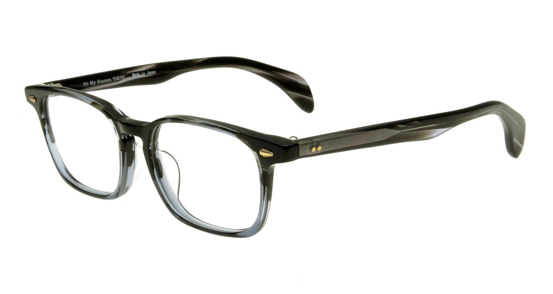Oh My Glasses TOKYO Marc omg-008-5-51 +1.0 [黒縁/ウェリントン]  1