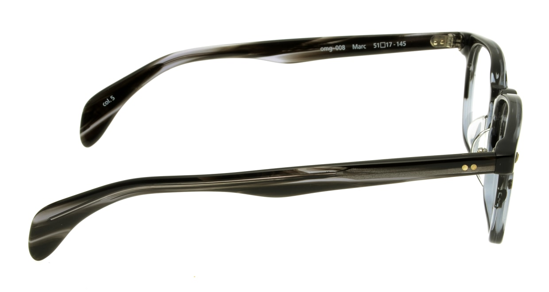 Oh My Glasses TOKYO Marc omg-008-5-51 +1.0 [黒縁/ウェリントン]  2