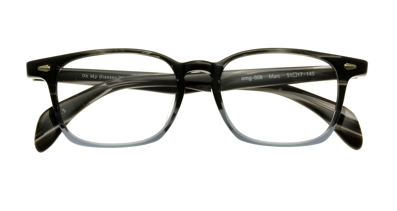 Oh My Glasses TOKYO Marc omg-008-5-51 +1.0 [黒縁/ウェリントン]