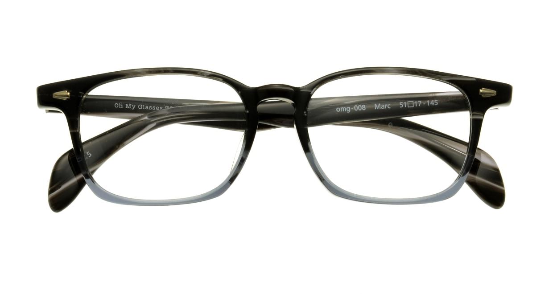 Oh My Glasses TOKYO Marc omg-008-5-51 +1.5 [黒縁/ウェリントン]