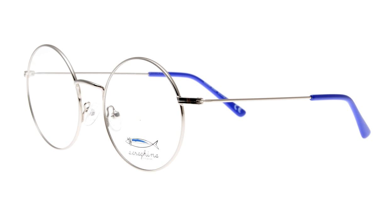 サラギーナELENA-308V-51 [メタル/丸メガネ/シルバー]  1