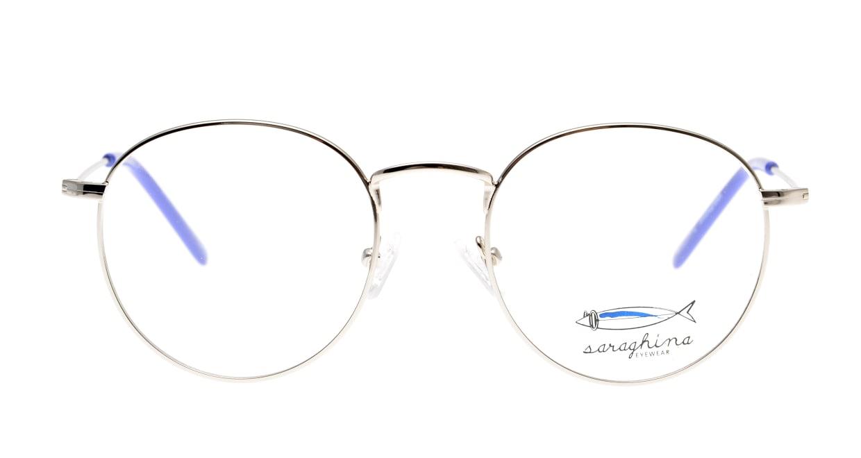 サラギーナ MASO-308-V50 [メタル/丸メガネ/シルバー]