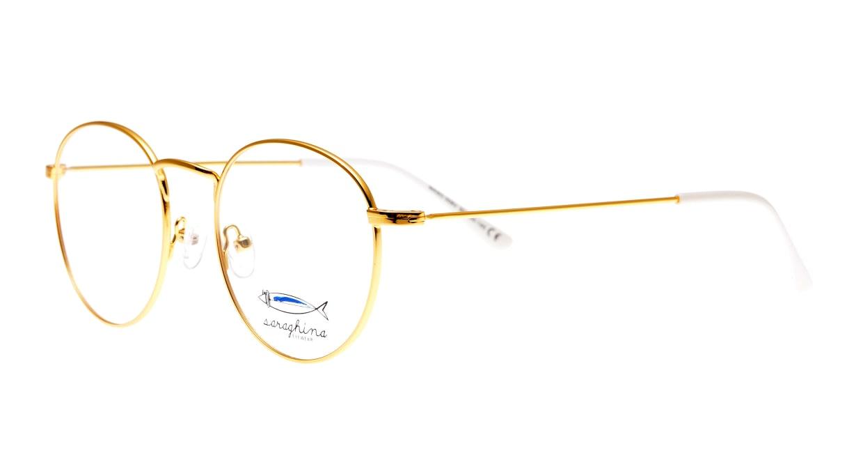 サラギーナ MASO-309-V50 [メタル/丸メガネ/ゴールド]  1