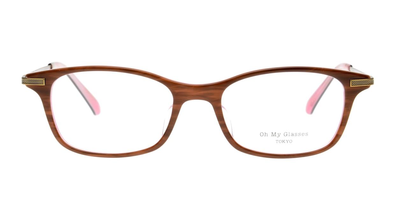 Oh My Glasses TOKYO Edward omg-052-8-50 [鯖江産/ウェリントン/茶色]