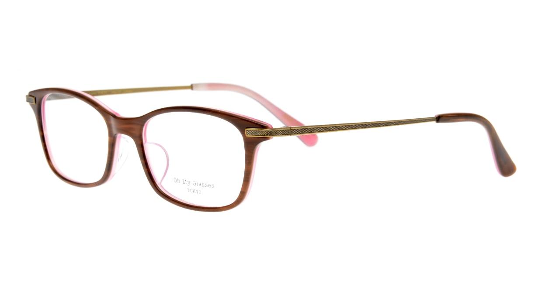 Oh My Glasses TOKYO Edward omg-052-8-50 [鯖江産/ウェリントン/茶色]  1