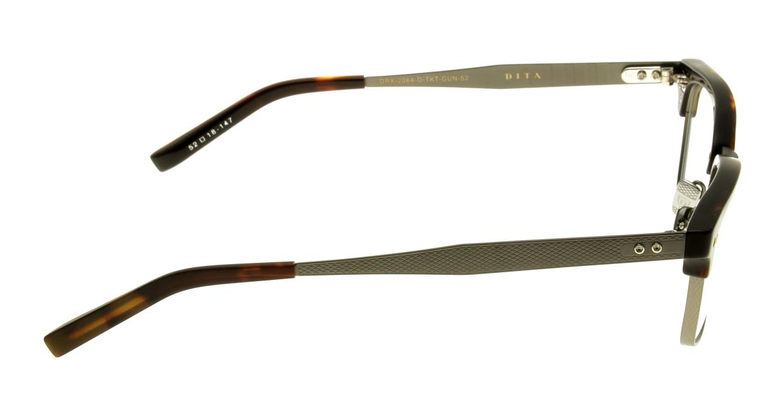 ディータ Statesman Three DRX-2064-D-TKT-GUN-52-Z [黒縁/丸メガネ]  1