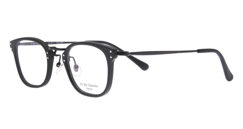 Oh My Glasses TOKYO Ivy omg-080-MBKー46 [黒縁/鯖江産/ウェリントン]  1