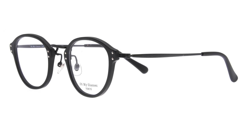 Oh My Glasses TOKYO Keith omg-081-MBKー46 [黒縁/鯖江産/丸メガネ]  1