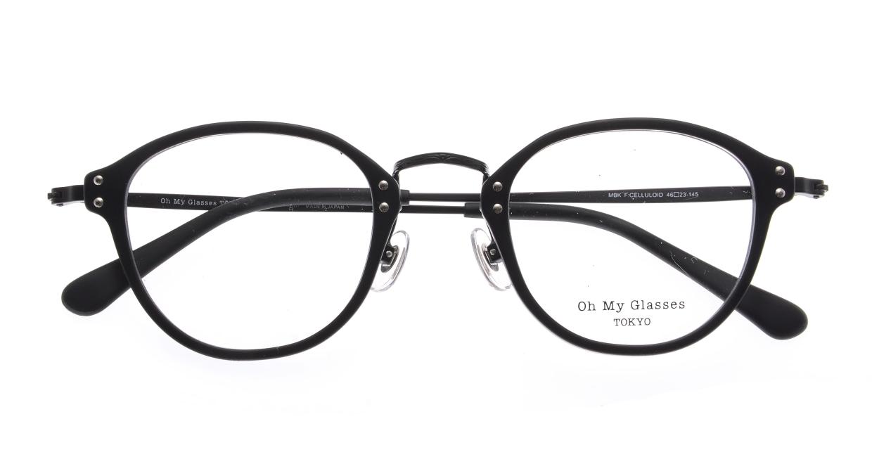 Oh My Glasses TOKYO Keith omg-081-MBKー46 [黒縁/鯖江産/丸メガネ]  4