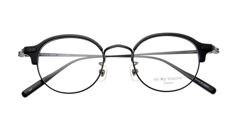 Oh My Glasses TOKYO Ralph omg-083-MBK-1 [黒縁/鯖江産/丸メガネ]  4