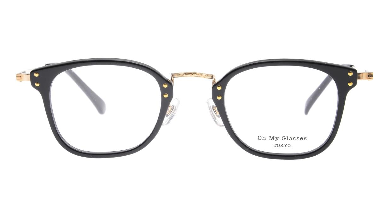 Oh My Glasses TOKYO Ivy omg-080-BKー46 [黒縁/鯖江産/ウェリントン]