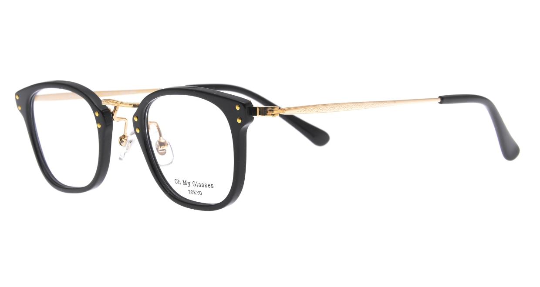 Oh My Glasses TOKYO Ivy omg-080-BKー46 [黒縁/鯖江産/ウェリントン]  1