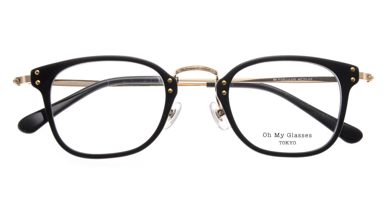 Oh My Glasses TOKYO Ivy omg-080-BKー46 [黒縁/鯖江産/ウェリントン]  4